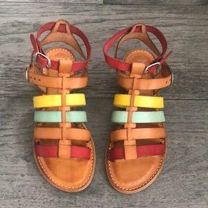 Modcloth MusseandCloud Multicolored Leather Sandal